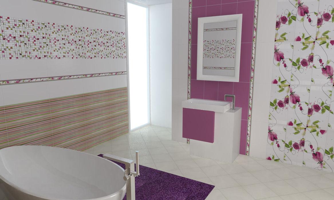 CERAMICHE BRENNERO SPA モダンスタイルの お風呂