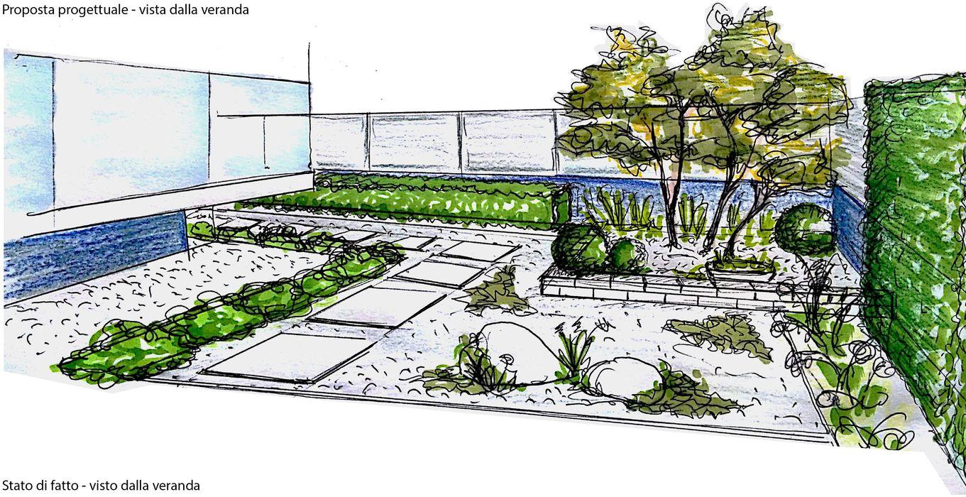 VERDE FACILE ED ELEGANTE Lugo - Architettura del Paesaggio e Progettazione Giardini Giardino moderno