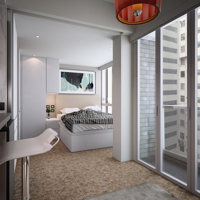 South Lane | Kennedy Town | Hong Kong Nelson W Design Modern style bedroom