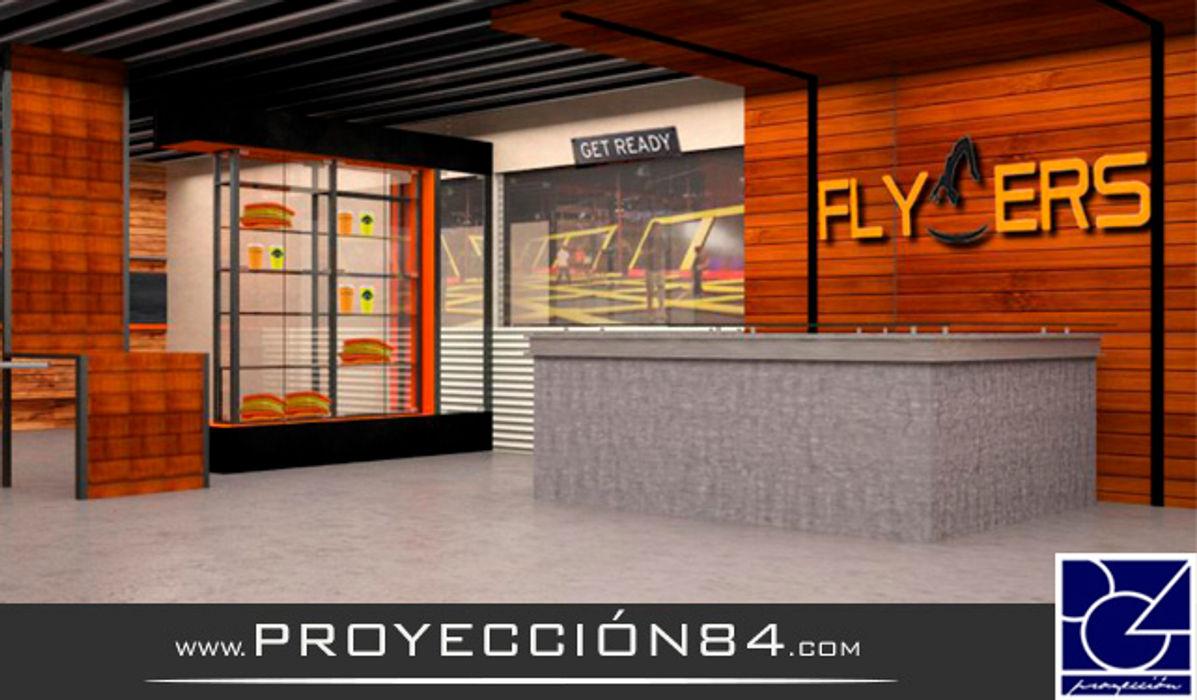FLYERS PROYECCIÓN 84 Locaciones para eventos de estilo moderno Naranja