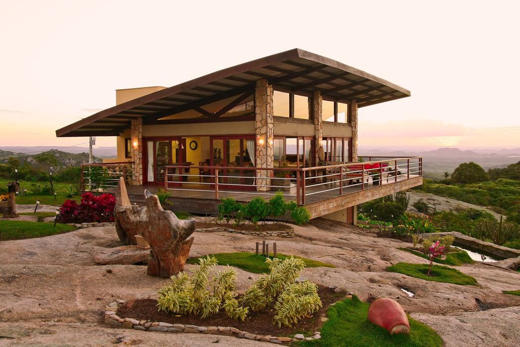 Casa da Serra Duo Arquitetura Casas campestres Efeito de madeira