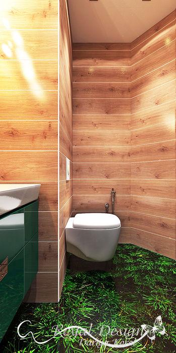 Your royal design Casas de banho minimalistas Acabamento em madeira