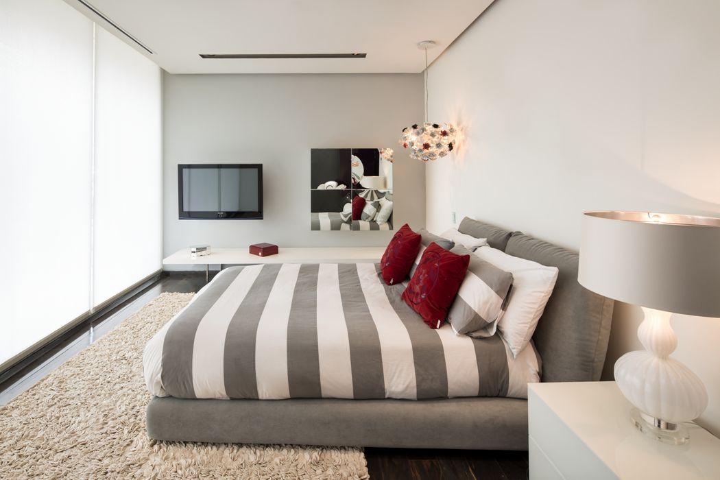 Penthouse Punto Central Línea Vertical Dormitorios modernos