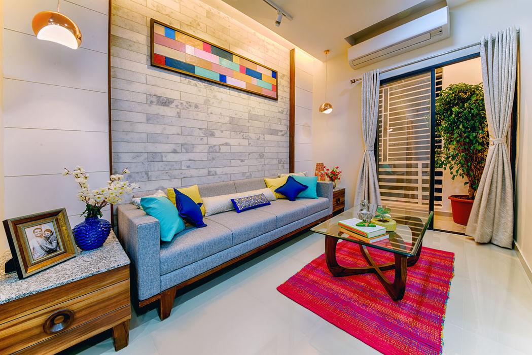 Saar Interior Design Вітальня Різнокольорові