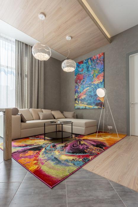 Проект квартиры в современном стиле Bellarte interior studio Гостиная в стиле модерн