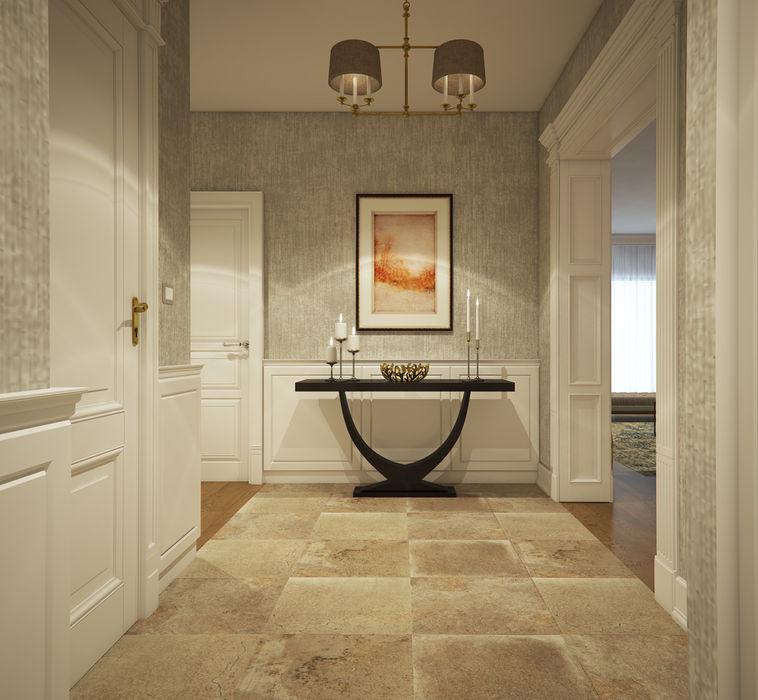 yücel partners Modern Corridor, Hallway and Staircase