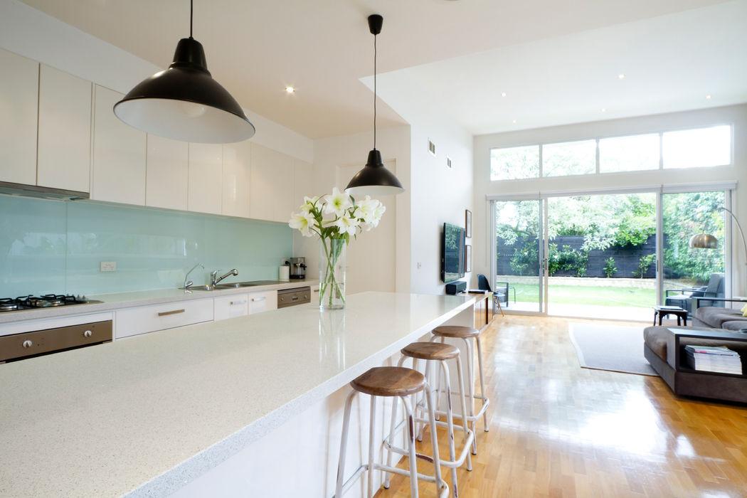 Contemporary Minimalistic Kitchen Gracious Luxury Interiors Modern kitchen White