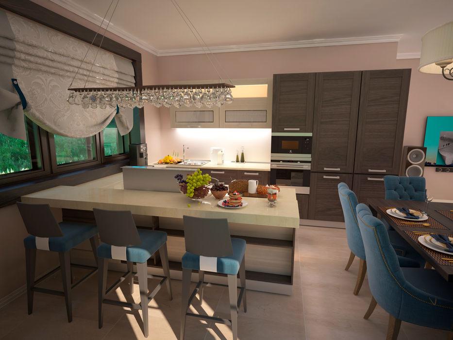 Гурьянова Наталья Modern Dining Room MDF Brown