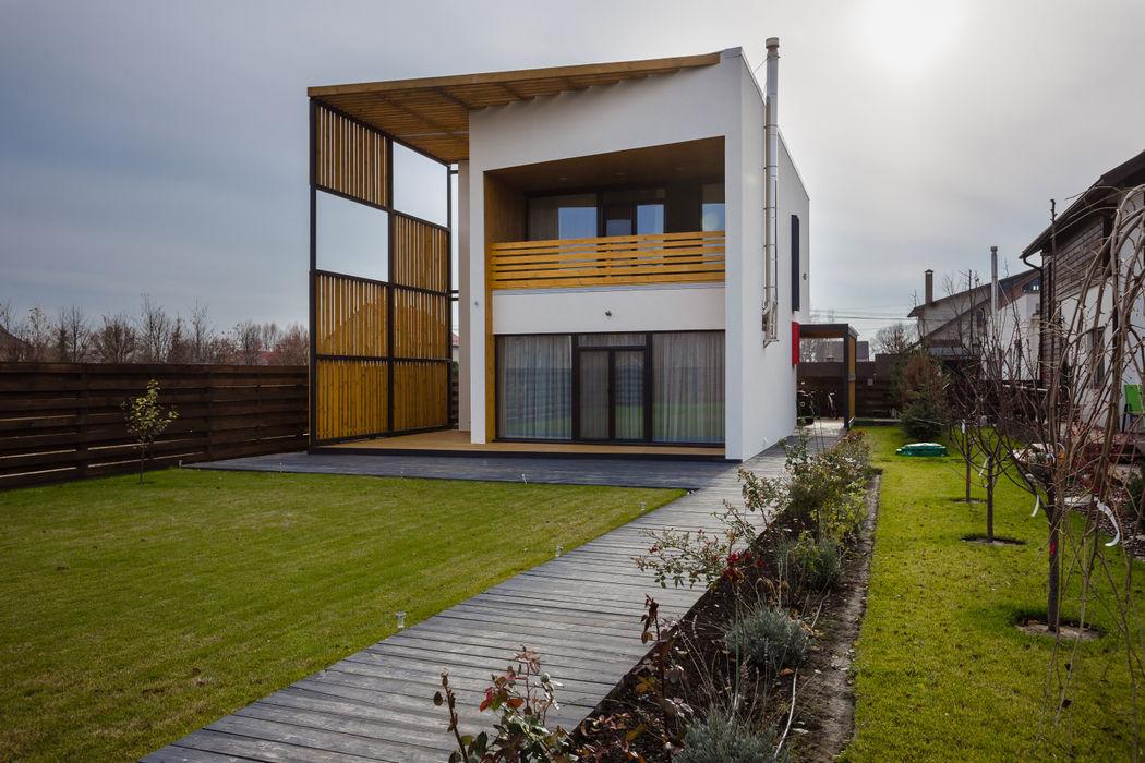 RBN house Grynevich Architects Дома в стиле минимализм Дерево Белый
