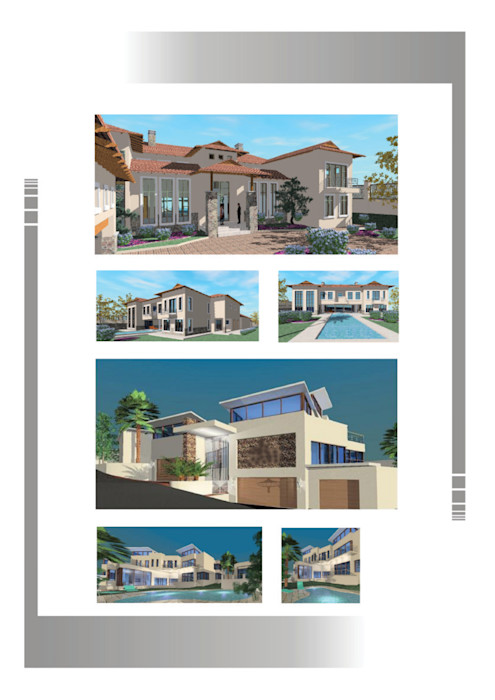 Mansions Hyperrealistic Architectural Studio Colonial style houses