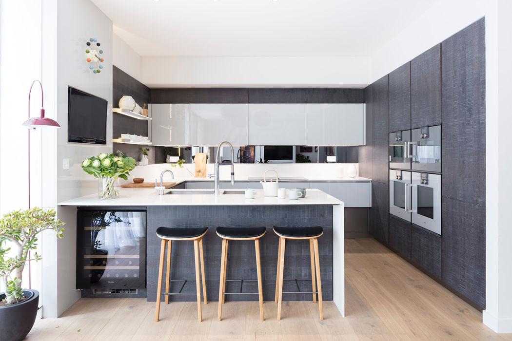 Modern New Home in Hampstead - kitchen bar Black and Milk | Interior Design | London Modern Dining Room