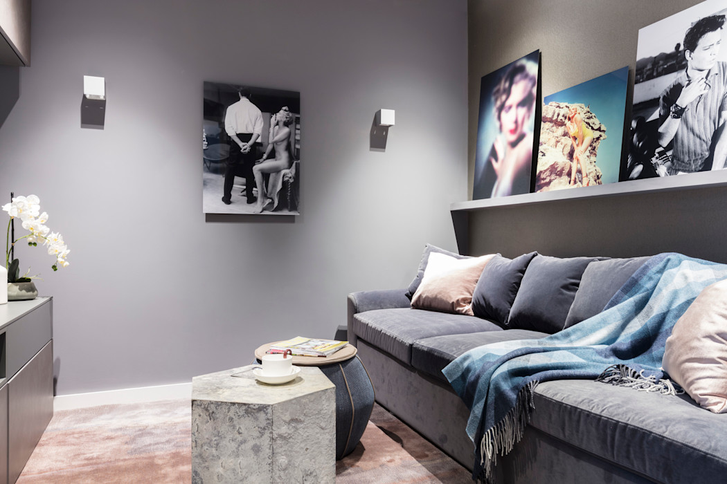 Modern New Home in Hampstead - media room Black and Milk | Interior Design | London Multimedia roomFurniture