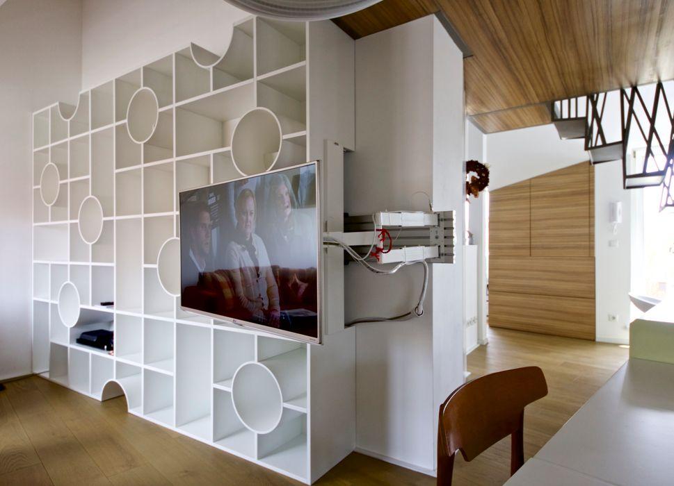 3rdskin architecture gmbh ГостинаяМебель для медиа комнаты