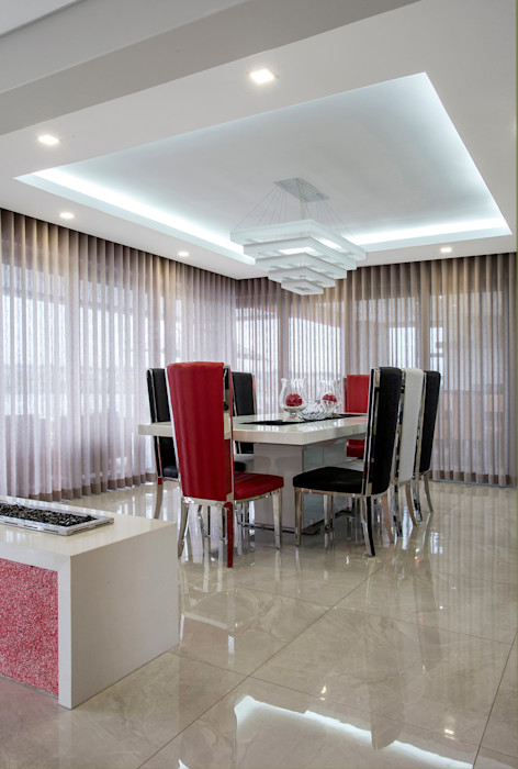 Ultra modern FRANCOIS MARAIS ARCHITECTS Modern dining room
