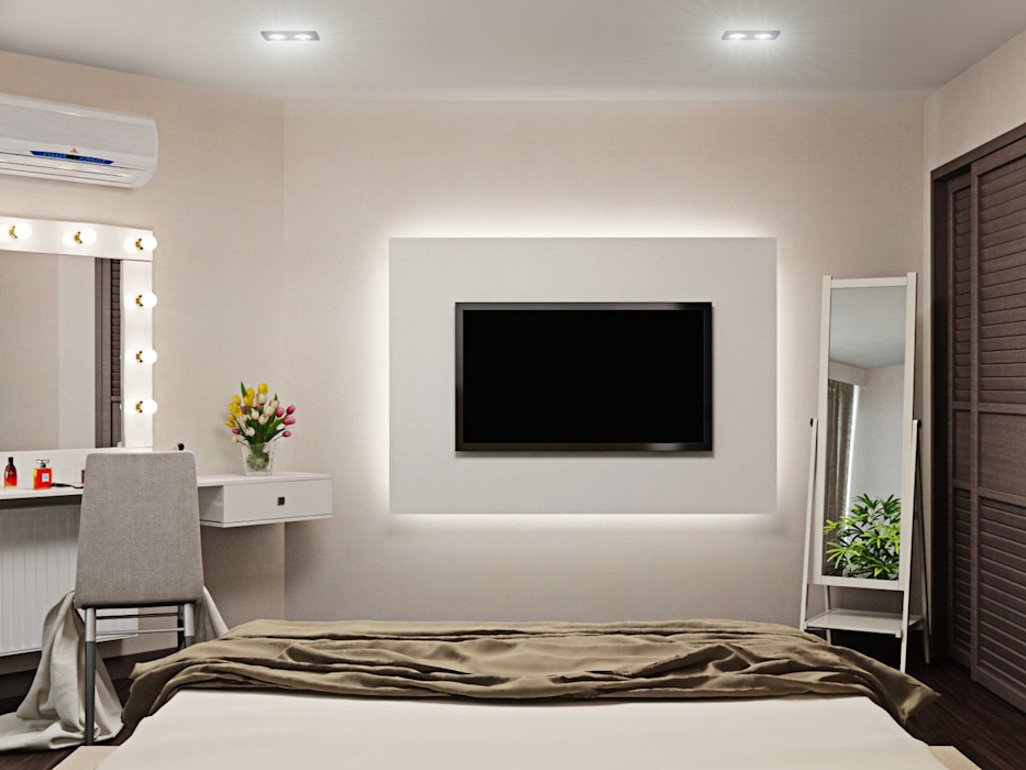ДизайнМастер Eclectic style bedroom Beige