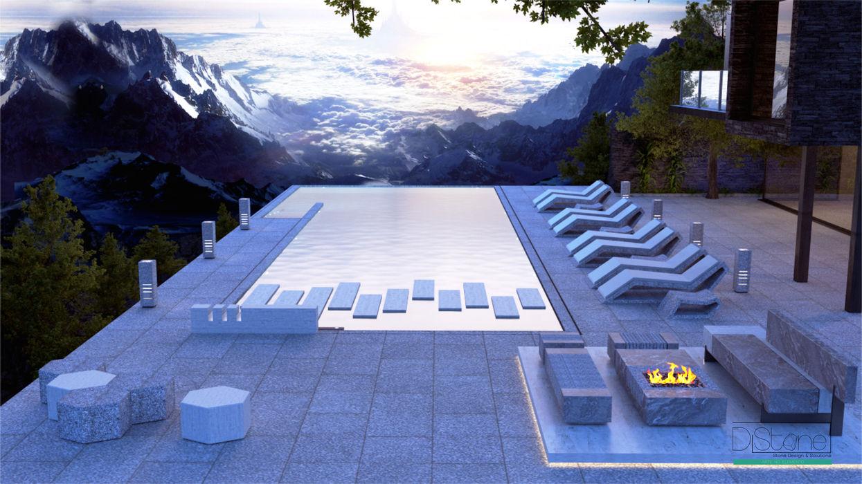 Ambiente Residencial - Exterior Distone Piscina Pedra