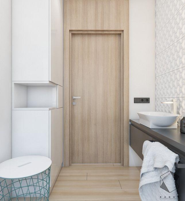 Projekt domu jednorodzinnego 12 BAGUA Pracownia Architektury Wnętrz Skandynawska łazienka