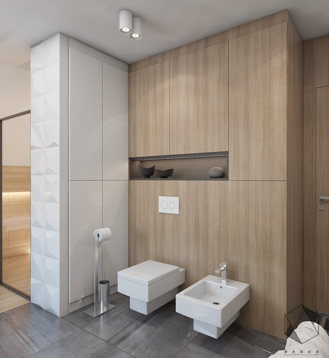 Projekt domu jednorodzinnego 12 BAGUA Pracownia Architektury Wnętrz Nowoczesna łazienka