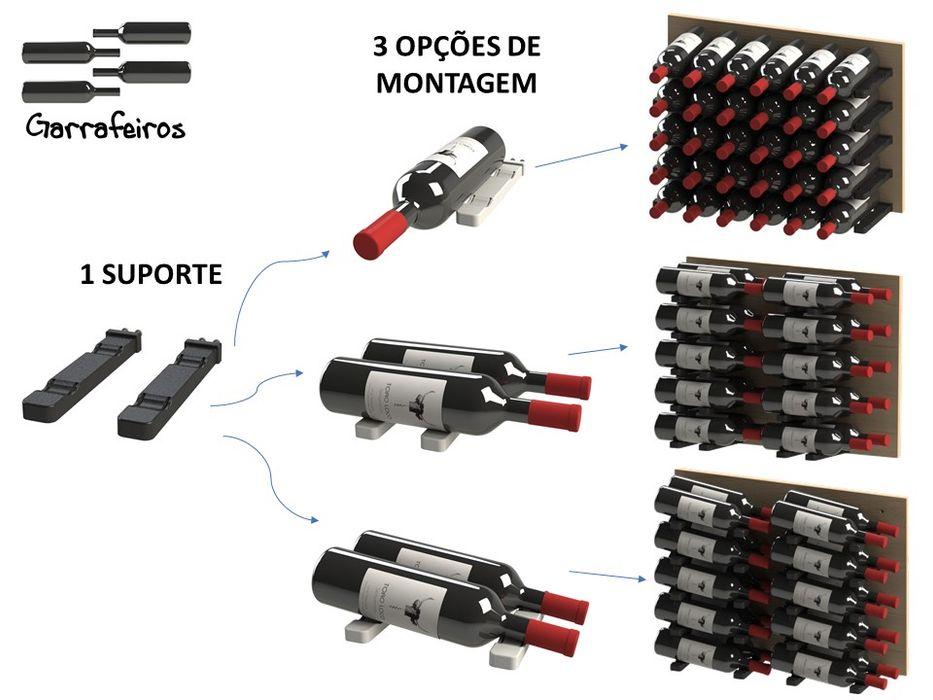 Adega / Suporte para garrafas 1G-Smart Garrafeiros - Adegas para Vinho Adega Plástico Preto