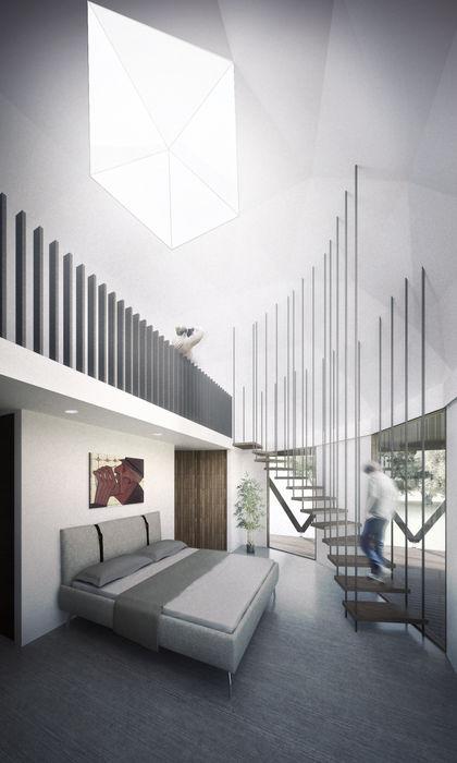 B+V Arquitectos Minimalist bedroom