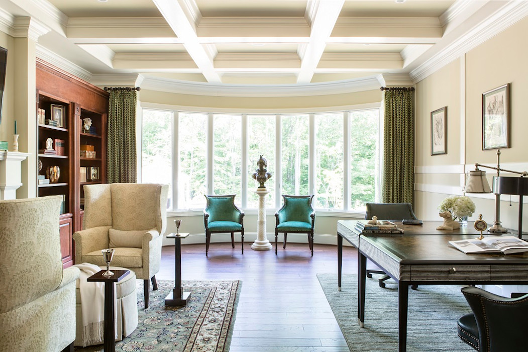 Riverside Retreat - Library and Office Lorna Gross Interior Design اتاق کار و درس