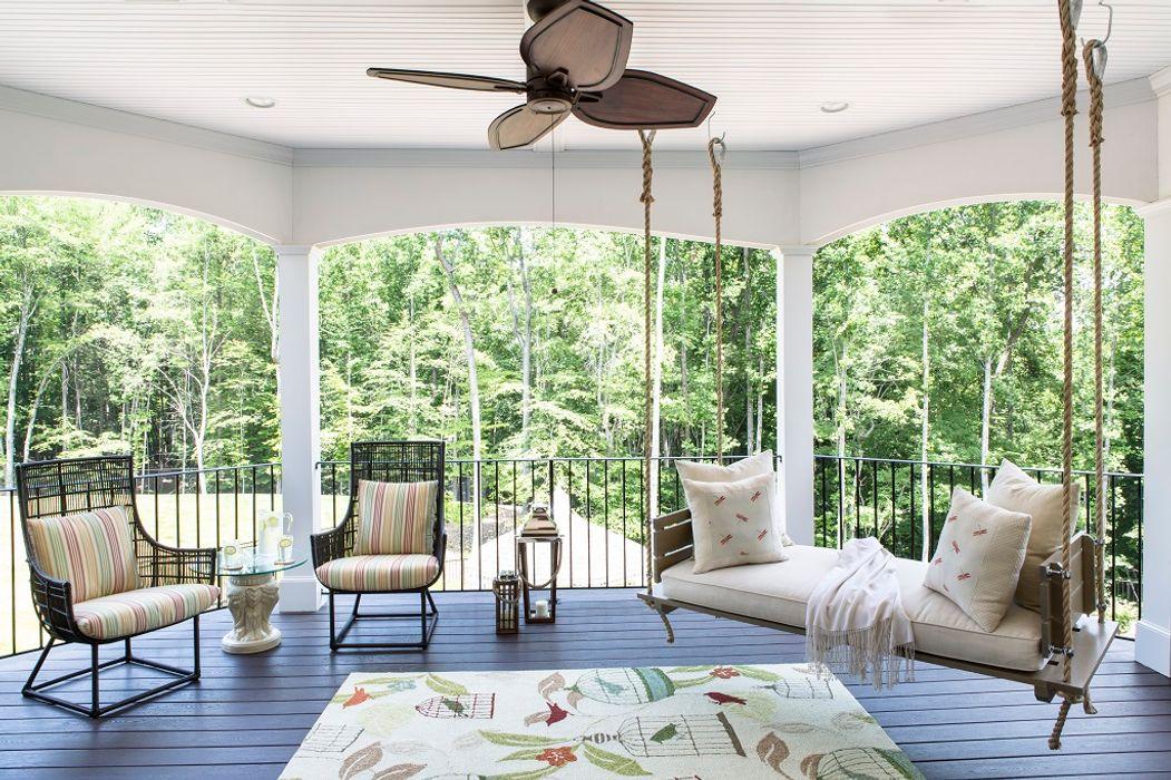 Lorna Gross Interior Design Eklektik Balkon, Veranda & Teras