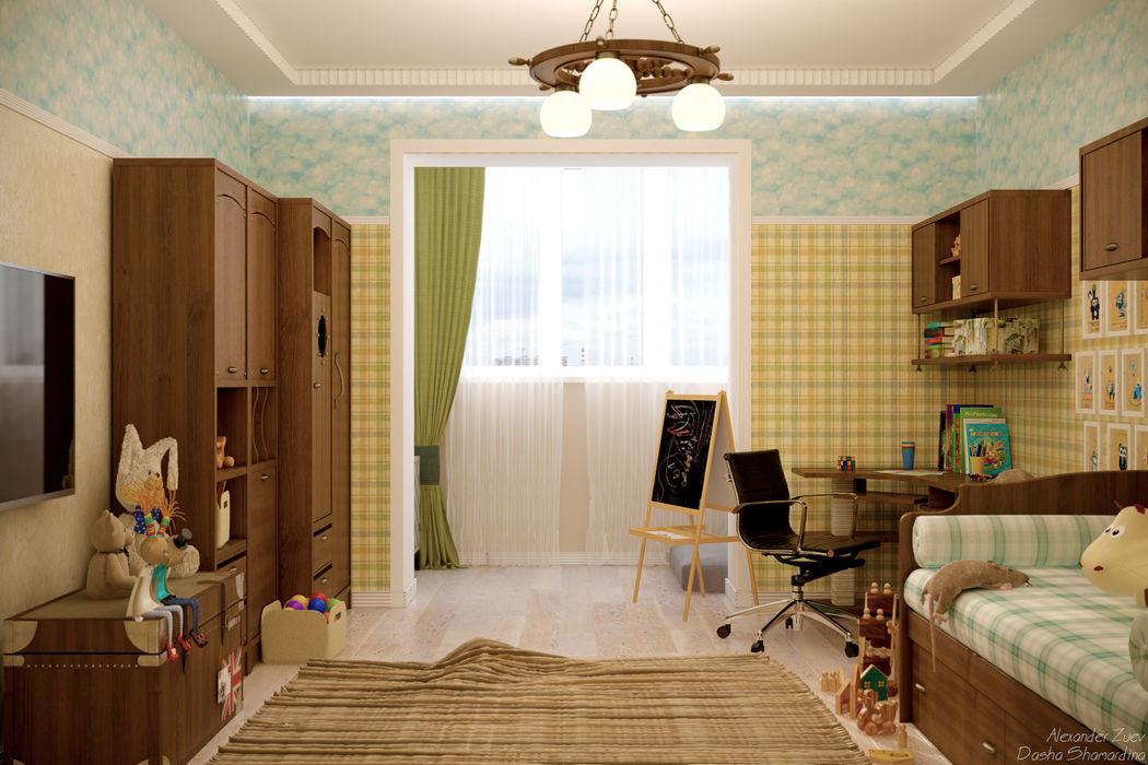 Студия интерьерного дизайна happy.design Dormitorios infantiles de estilo mediterráneo