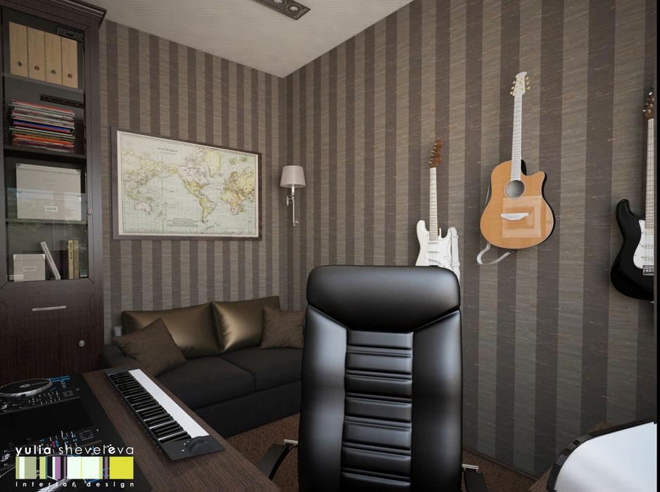 Мастерская интерьера Юлии Шевелевой Eclectic style study/office