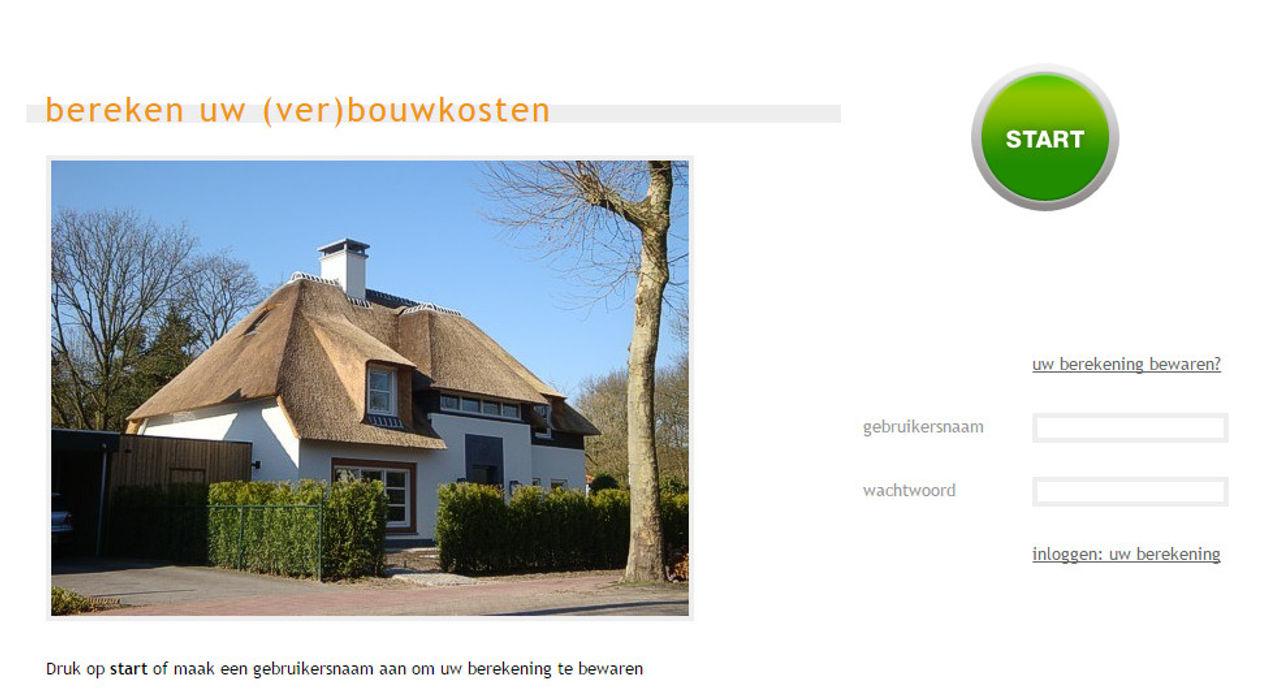 Bereken uw (ver)bouwkosten watkostbouwen.nl Moderne huizen