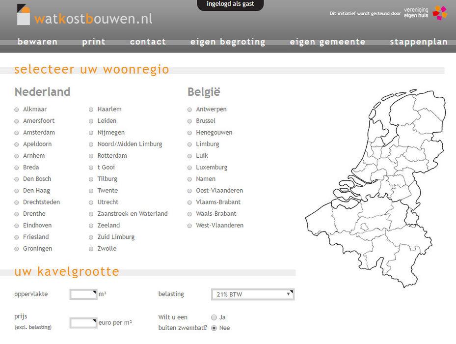 Bereken uw (ver)bouwkosten watkostbouwen.nl