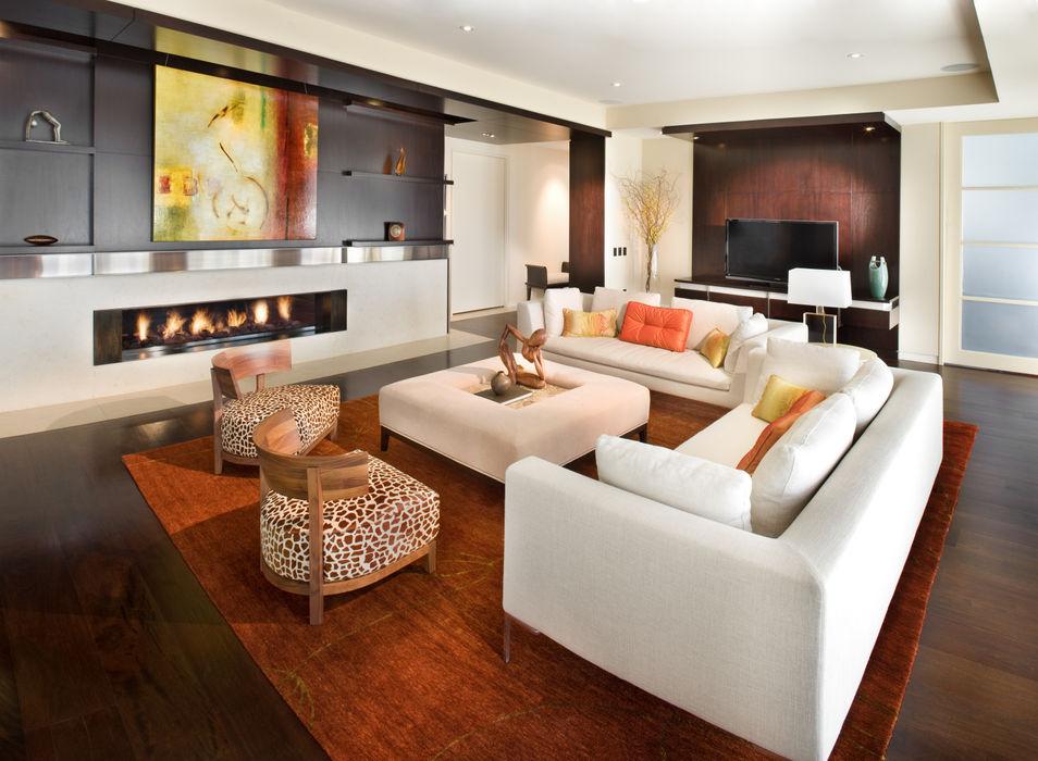 Lorna Gross Interior Design Вітальня Білий