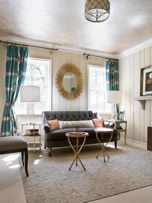 Lorna Gross Interior Design Гостиная в стиле модерн Серый