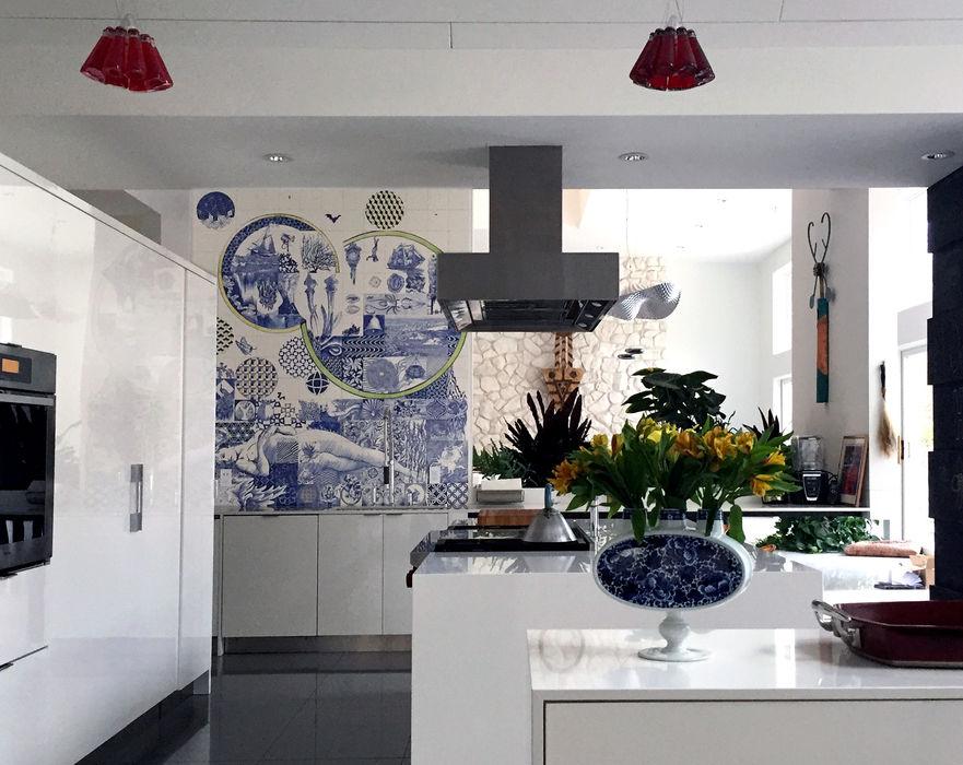 José den Hartog Eklektik Mutfak Mozaik Mavi