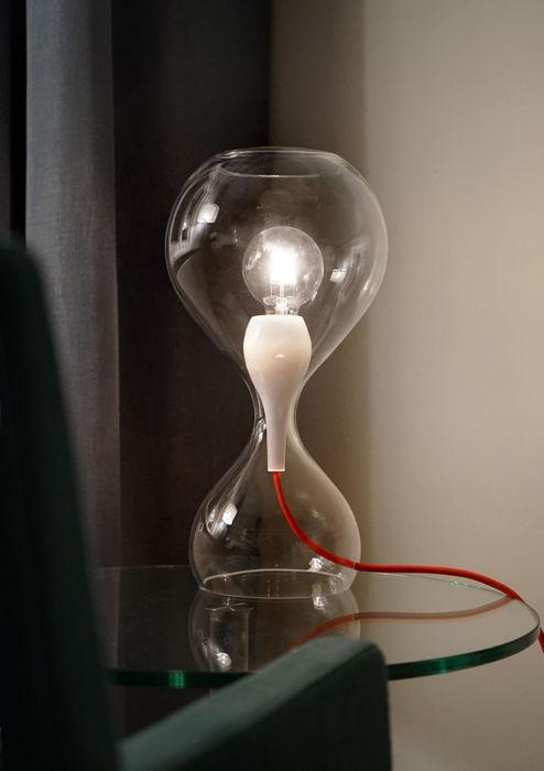 BLUBB Tischleuchte next home collection e.K. WohnzimmerBeleuchtung Glas Transparent