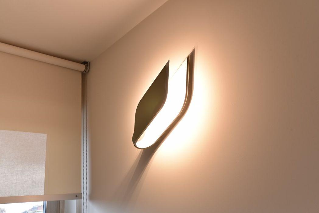 appartamento C+G - 2015 architetto Davide Fornero Camera da letto moderna Ardesia Beige