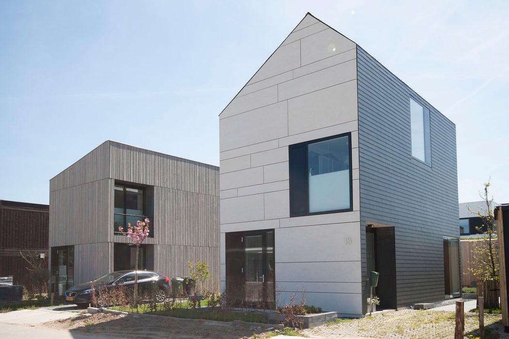 straatbeeld 8A Architecten Moderne huizen Leisteen Zwart