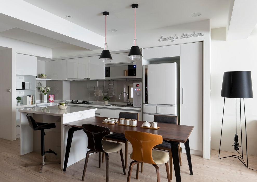 耀昀創意設計有限公司/Alfonso Ideas Nhà bếp phong cách Bắc Âu