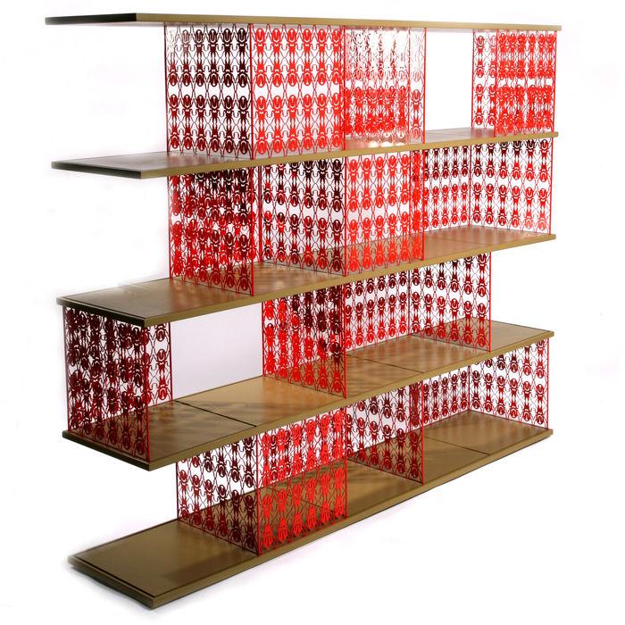 Egg Designs CC Living roomShelves Sắt / thép Red