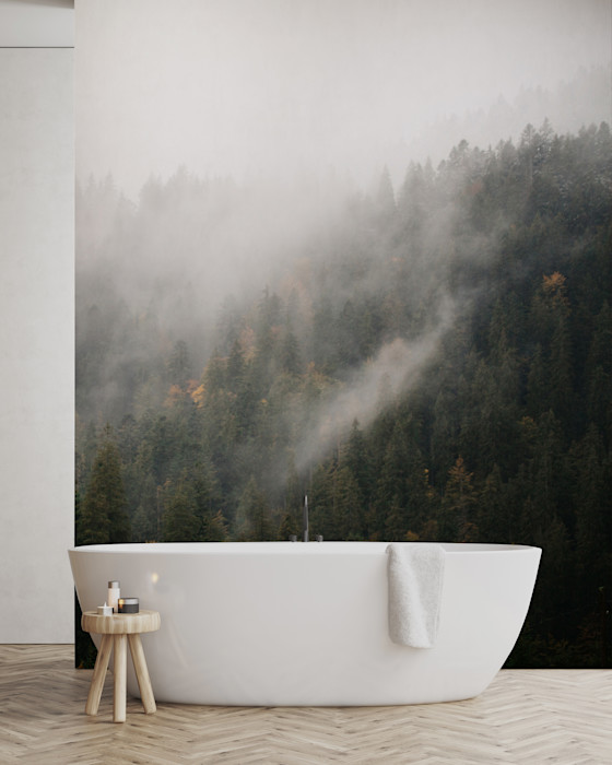 THE BATH IN THE FOG Pixers Minimalist style bathroom