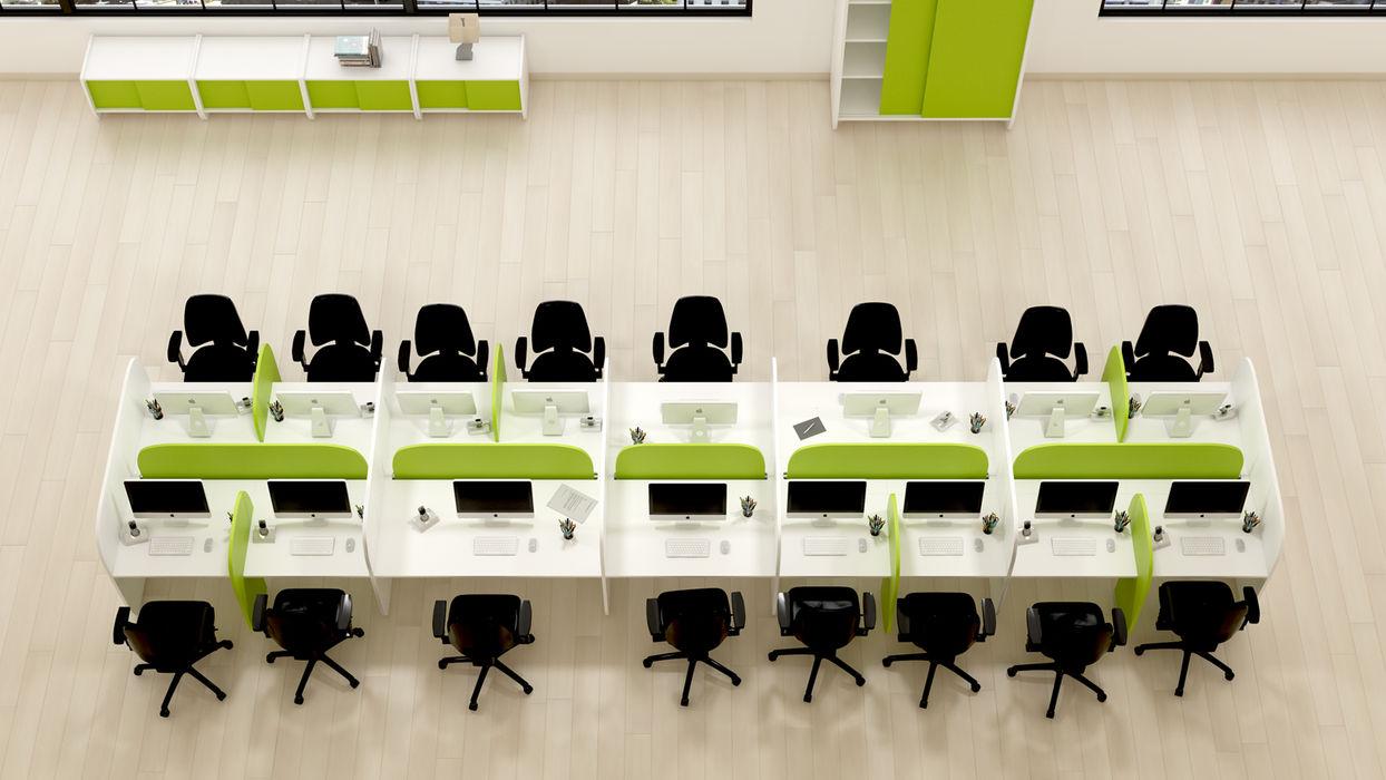 FERCIA - Furniture Solutions Moderne Bürogebäude Holzwerkstoff
