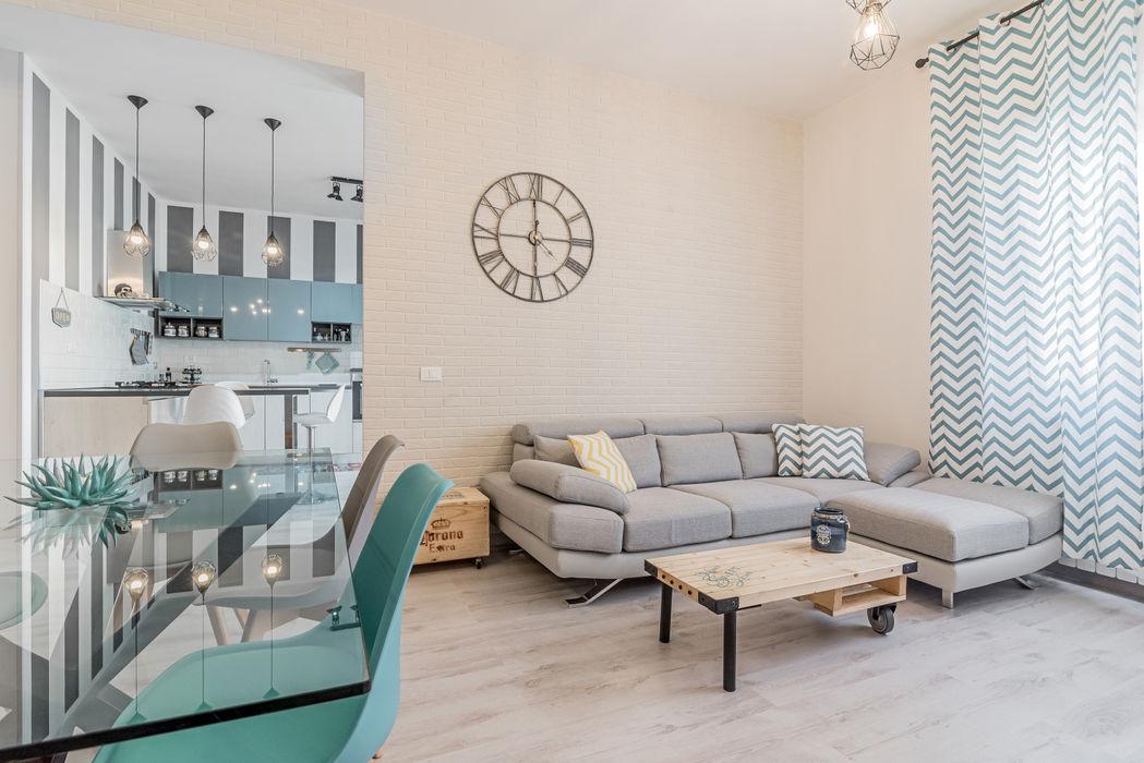 Ristrutturazione appartamento Roma, Tor Sapienza Facile Ristrutturare Soggiorno moderno