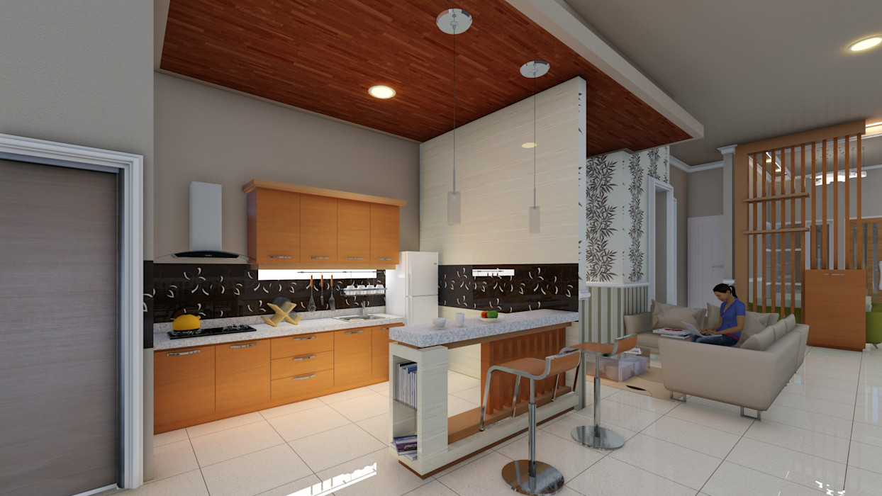 dapur Ardha Design Dapur Modern White