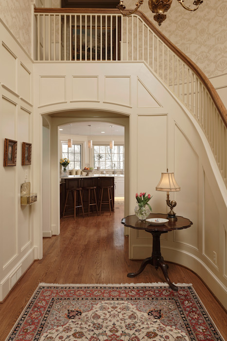 """""""Cook's Kitchen"""" Renovation in Potomac, Maryland BOWA - Design Build Experts Classic style corridor, hallway and stairs"""