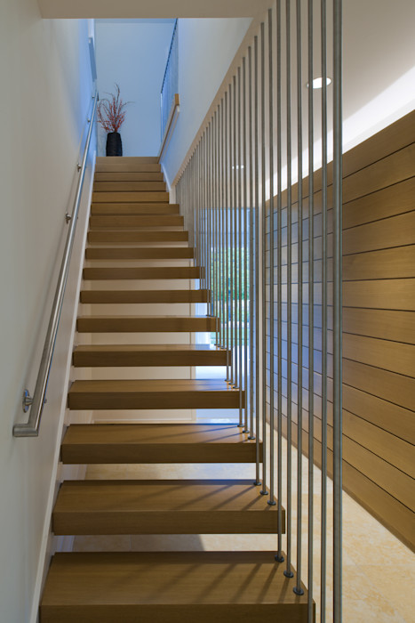 Green Building Features Abound in Bluemont, Virginia Custom Home BOWA - Design Build Experts Modern corridor, hallway & stairs