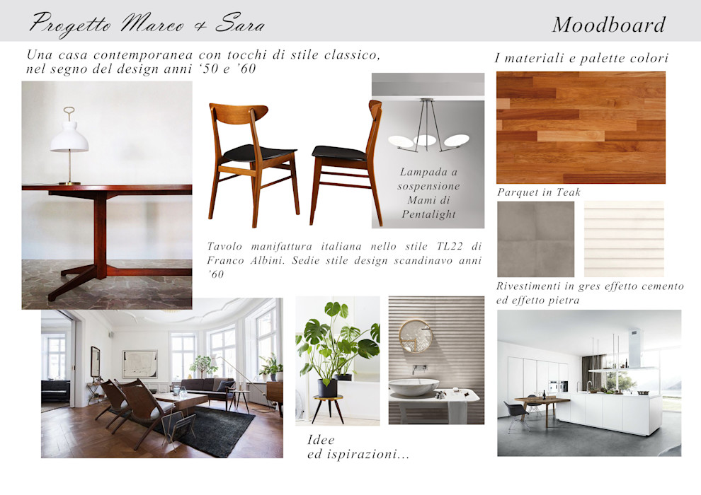 Moodboard - Una casa in stile anni '50-'60 Silvia C. Studio CasaAccessori & Decorazioni