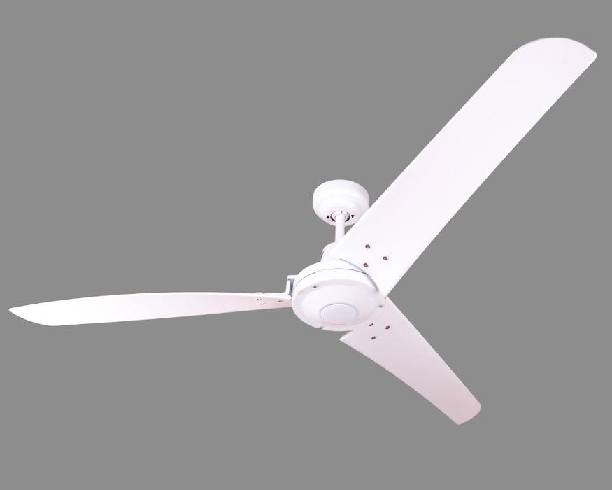 Industrie Deckenventilator Vourdries 142 cm Weiß ohne Steuerung, Fernbedienung oder Wandschalter möglich Creoven Garage/Schuppen