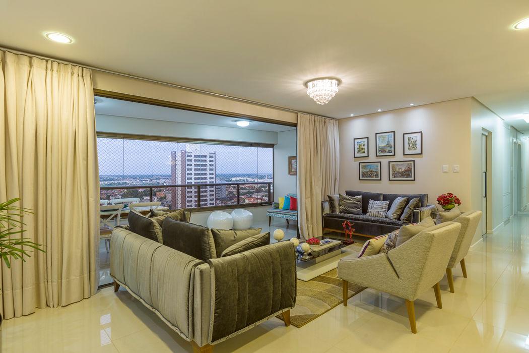 Sala de estar DM ARQUITETURA E ENGENHARIA Salas de estar modernas