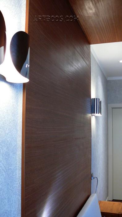 Квартира на Юго-западной Творческая мастерская АRTBOOS Спальня в стиле минимализм