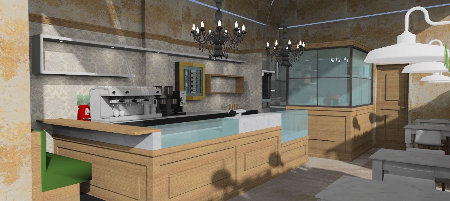 CAFFETTERIA IN CENTRO CARLO CHIAPPANI interior designer Bar & Club in stile classico