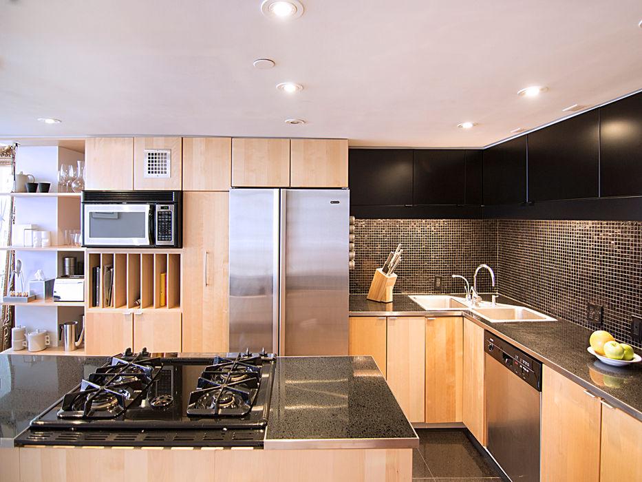 greenwich village duplex Kimberly Peck Architect Built-in kitchens